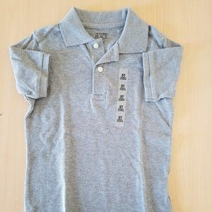NWT Children's Place toddler boys 5T gray polo